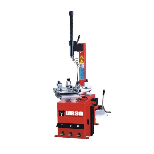 Semi-automatic motorcycle tyre changer