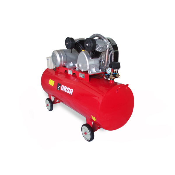 """Professional grade air compressor, equiped with large air flow pump.            Air delivery     22.6 cfm         Compressor Stage    One        Pump RPM    880        Pump Material    Solid Cast Iron        Motor RPM    2890        Motor Phase    Three        Voltage available    380V        Tank Size    79 Gallon        Tank orientation    Horizontal        Tank Outlet Size   2X1/2""""       Tank Drain    Manual         Max PSI    175        Drive Type    Belt Driven             Configuration may vary, on request."""